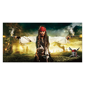 Pirates of the Caribbean. Размер: 120 х 60 см